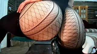 Big Booty Ebenholz reitet Dildo